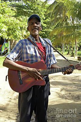 Photograph - Nicaraguan Musician Big Corn Island Nicaragua by John  Mitchell