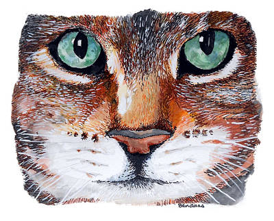 Art Print featuring the painting Nice Kitty by Terry Banderas