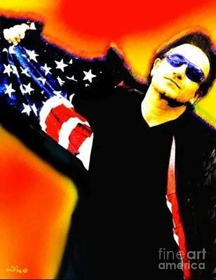 Bono Mixed Media - Nicholas Nixo U2 Bono by Nicolas Nixo