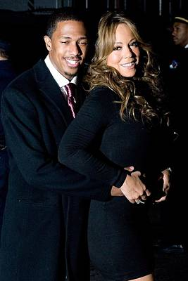 Mariah Photograph - Nick Cannon, Mariah Carey At Arrivals by Everett