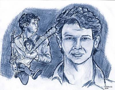 Drawing - Nick Jonas Advocate by Chris  DelVecchio