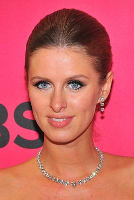 Nicky Hilton Wearing A Mouawad Necklace Art Print by Everett