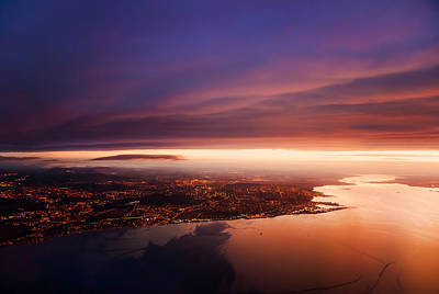 Photograph - Nigh Flight Over Edinburgh. Scotland by Jenny Rainbow