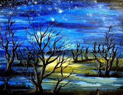 By Singh Painting - Night by Artist Singh