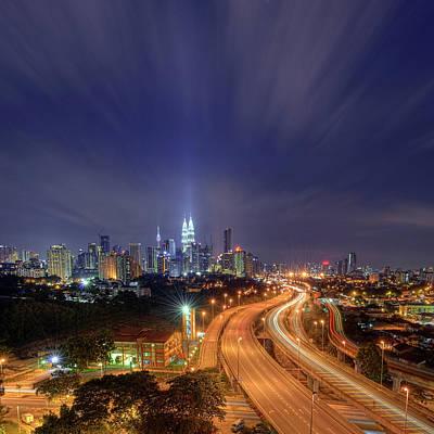 Night At  Kuala Lumpur Art Print by Zackri Zim's Photography