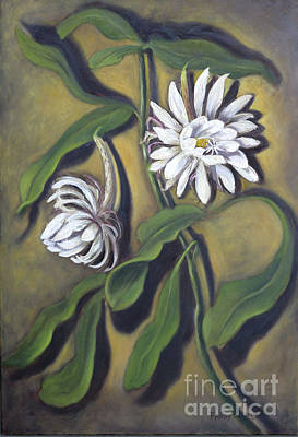Painting - Night Blooming Cereus by Randy Burns