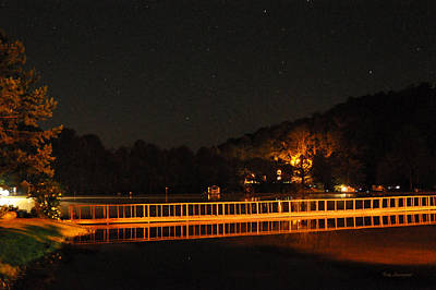 Night Bridge Art Print by Kay Lovingood