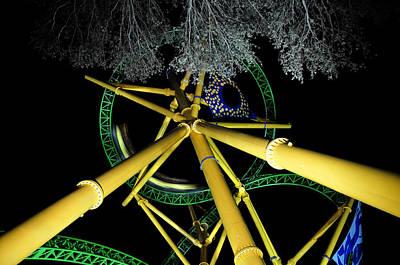 Roller Coaster Photograph - Night Cheetah by David Lee Thompson