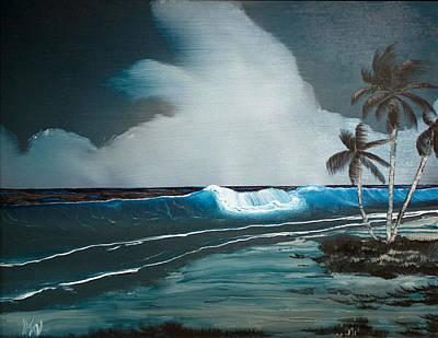 Art Print featuring the painting Night Dream by Karen Nicholson
