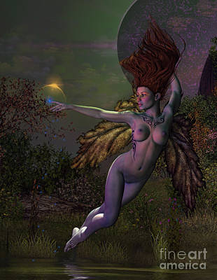 Angel Mermaids Ocean Digital Art - Night Fae by Georgina Hannay