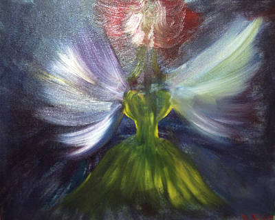 Painting - Night Fairy by Violette  L Meier