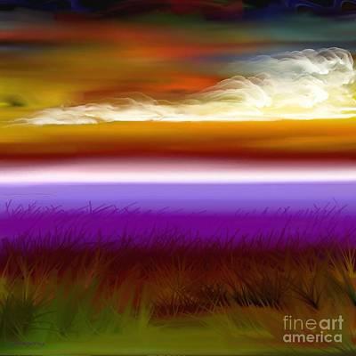 Digital Art - Night Falls by Greg Moores