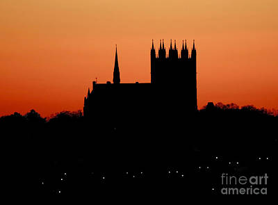 Night Falls Over Church Of Our Lady Art Print by Inspired Nature Photography Fine Art Photography