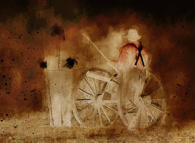 Artillery Digital Art - Night Fire by Ron Jones