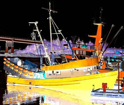 Night Fishing Digital Art - Night Fishing by Randall Weidner