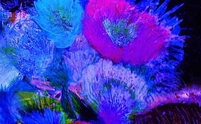 Night Flowers Art Print by Anne-Elizabeth Whiteway