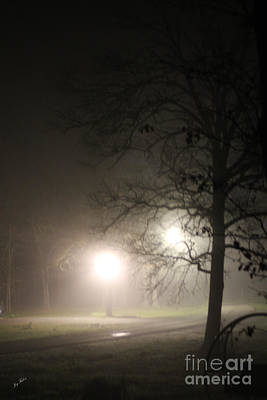 Photograph - Night Fog by Joy Tudor