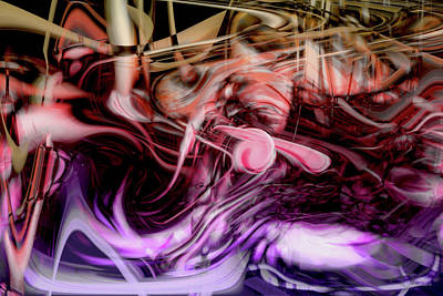 Abstract Movement Digital Art - Night Journeys by Linda Sannuti
