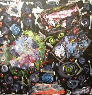 Pictori Romani Contemporani Painting - Night Joy by Carmen Kolcsar