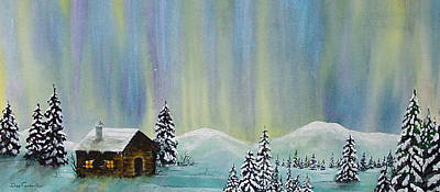 Northern Lights Painting - Night Lights by Dee Carpenter
