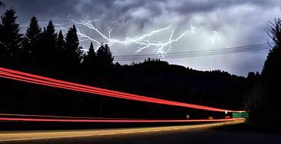 Lightning Photograph - Night Lights by Don Mann