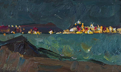 Painting - Night Lights by Juliya Zhukova
