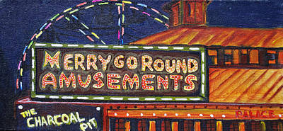 Asbury Painting - Night Merry's by Patricia Arroyo