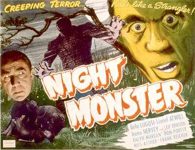 Night Monster, Bela Lugosi, 1942 Art Print