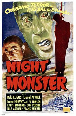 Bela Photograph - Night Monster, Left Bela Lugosi by Everett