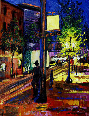 Night Time Painting - Night Moves by Anthony Falbo