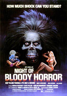 Postv Photograph - Night Of Bloody Horror, Gerald Mcraney by Everett