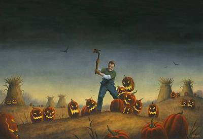 Horror Painting - Night Of The Jack-o-lanterns by Stacy Drum
