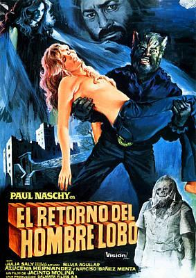 Horror Movies Photograph - Night Of The Werewolf, Aka Return Of by Everett