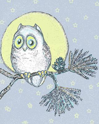 Night Owl Mixed Media - Night Owl by Peggy Wilson