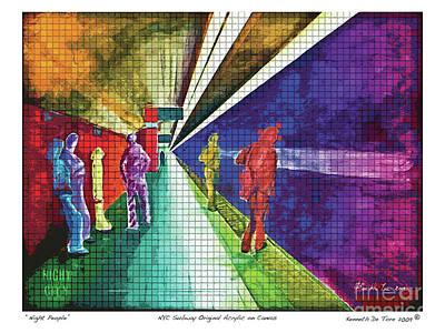 Digital Art - Night People by Kenneth De Tore