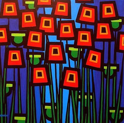 Night Poppies Original by John  Nolan