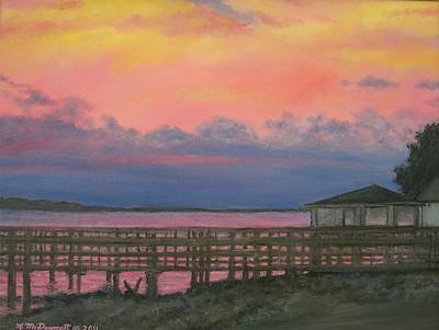 Night Sky Over Lake Marion Art Print by Kathleen McDermott