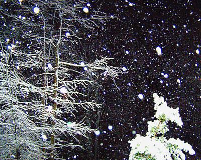 Night Snow Art Print by Sandi OReilly