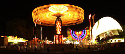 Photograph - Night Time Carnival Wide Shot by Gordon Dean II
