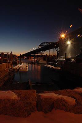 Photograph - Night Tiverton Bridge by Rafael Figueroa