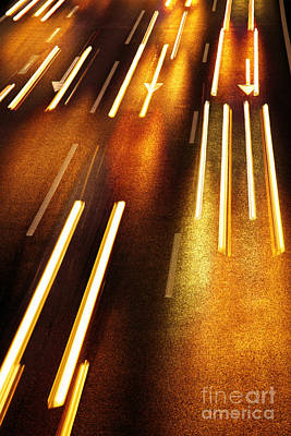 Night Traffic Art Print by Carlos Caetano