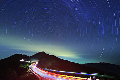 Long Tailed Photograph - Night Traffic Trails by Samyaoo