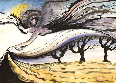Art Print featuring the painting Night by Valentina Plishchina