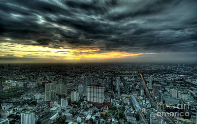 Night View Of Bangkok Original by Anek Suwannaphoom