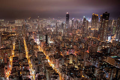 Hong Kong Photograph - Night View Of Kowloon by Ray Cheung