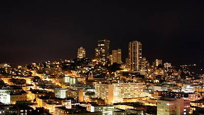 Night View Of San Francisco Art Print by Luiz Felipe Castro