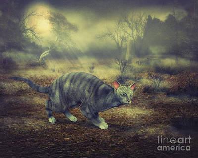 Night Walk Art Print by Jutta Maria Pusl