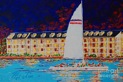 Painting - Nightfall In Key West  by Art Mantia