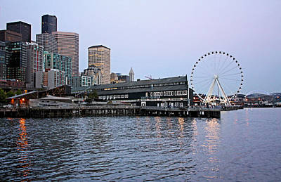 Photograph - Nightfall In Seattle by Kristin Elmquist