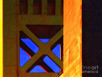 Nightfall Over Sacramento In Abstract . Vision 3 Print by Wingsdomain Art and Photography